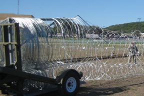 Mobile Razor Wire Security Barriers