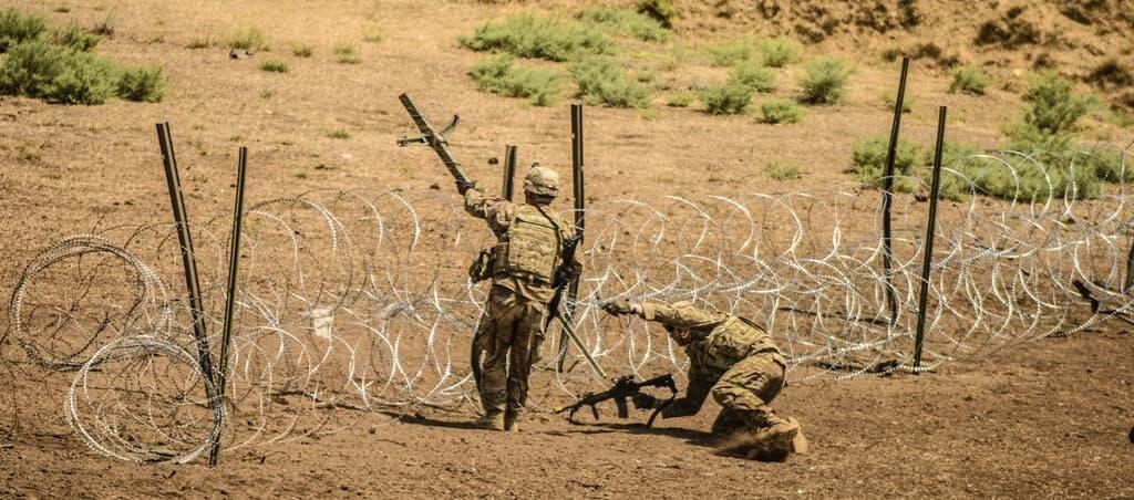 military razor wire fence