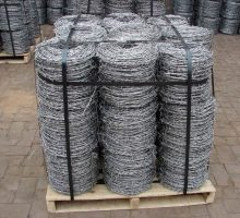 barbed wire in pallet package