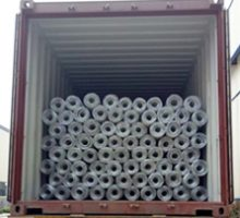 loaded the barbed wire rolls in bulk