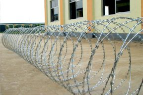 Galvanized concertina razor wire